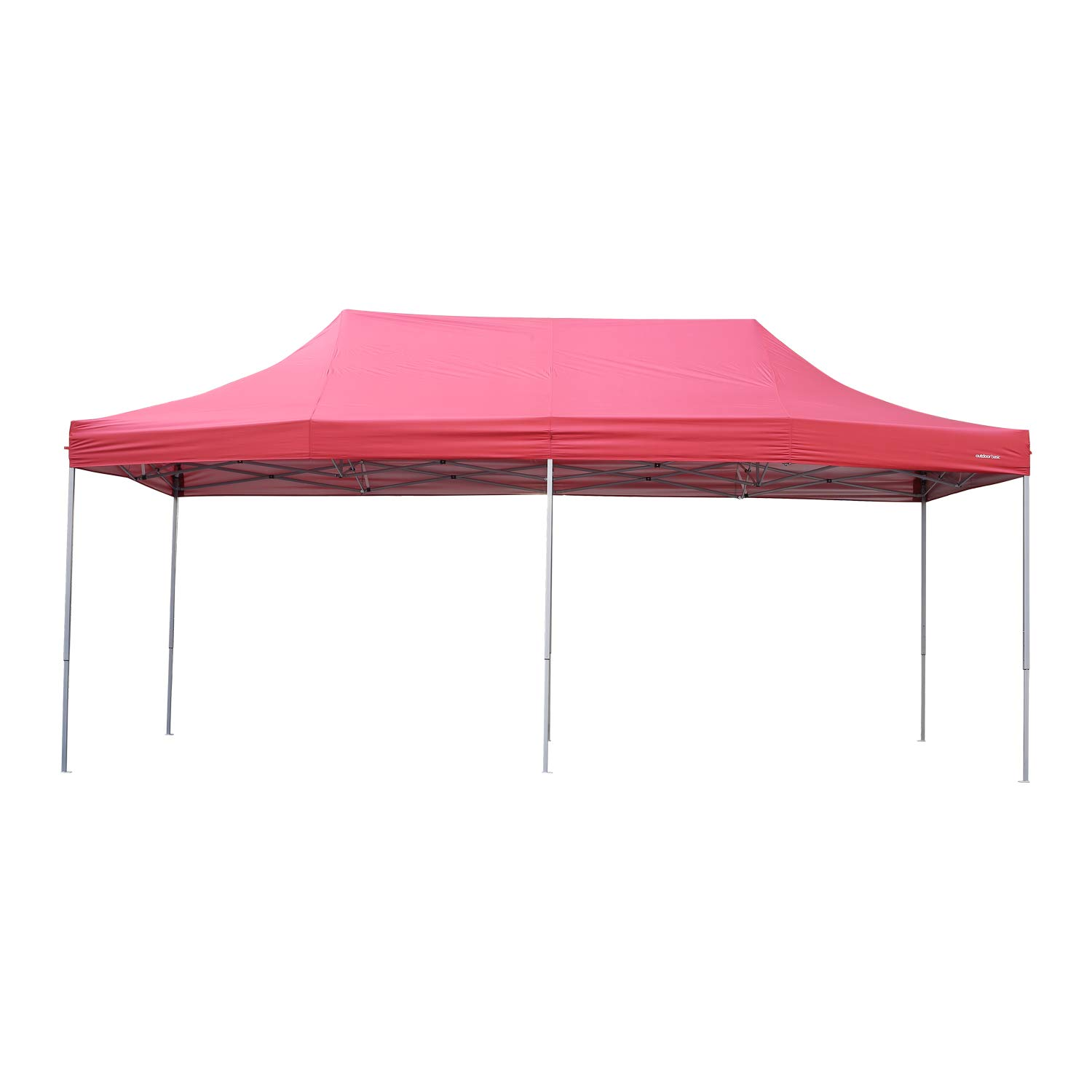 Outdoor Basic 10x20 Ft Pop up Canopy Party Tent Heavy Duty Instant Shelters for Events Red