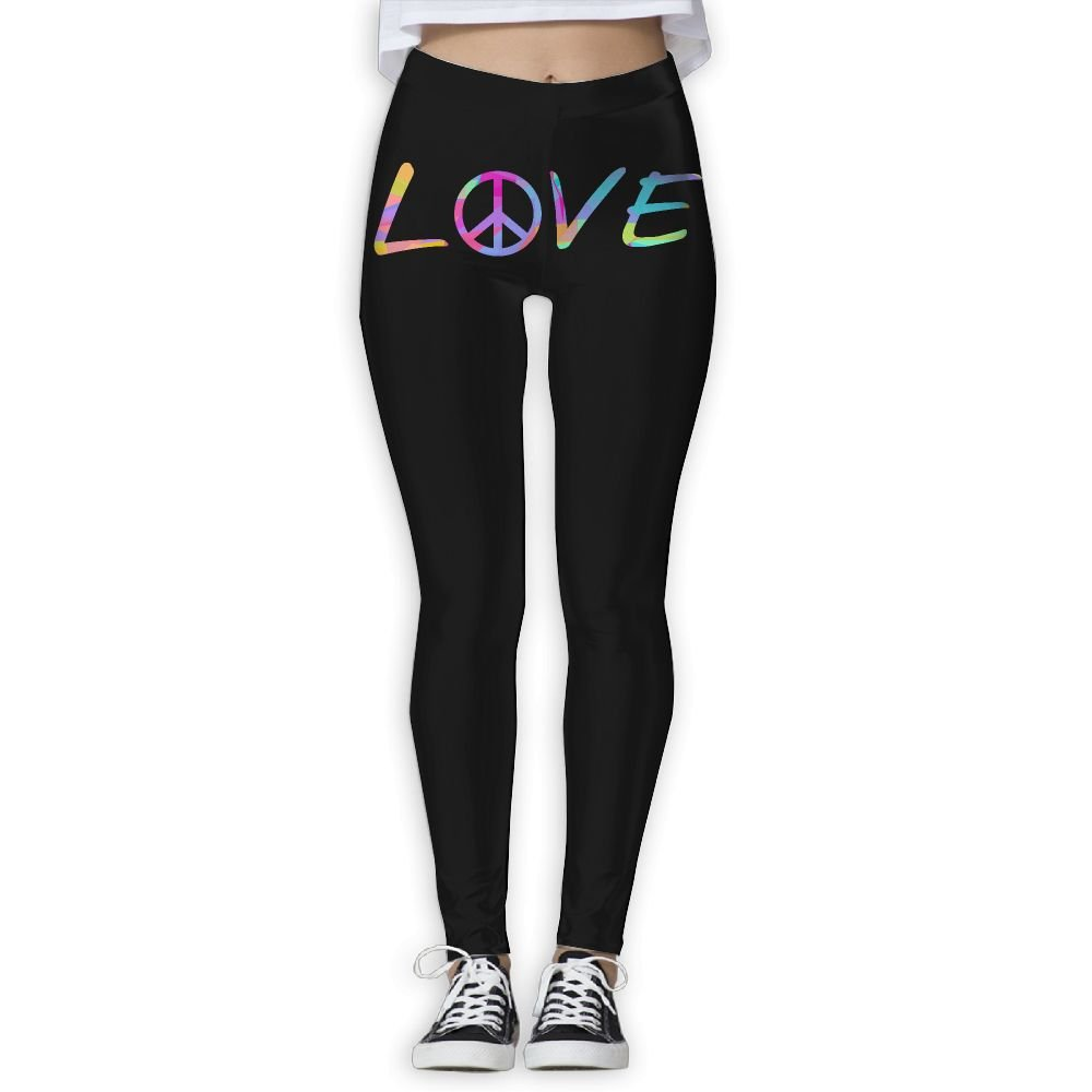 1c831d9abece3 WPE8 Rainbow Triangles Peace Love Women's Workout Running Gym Tights  Leggings High Waist Yoga Pants at Amazon Women's Clothing store:
