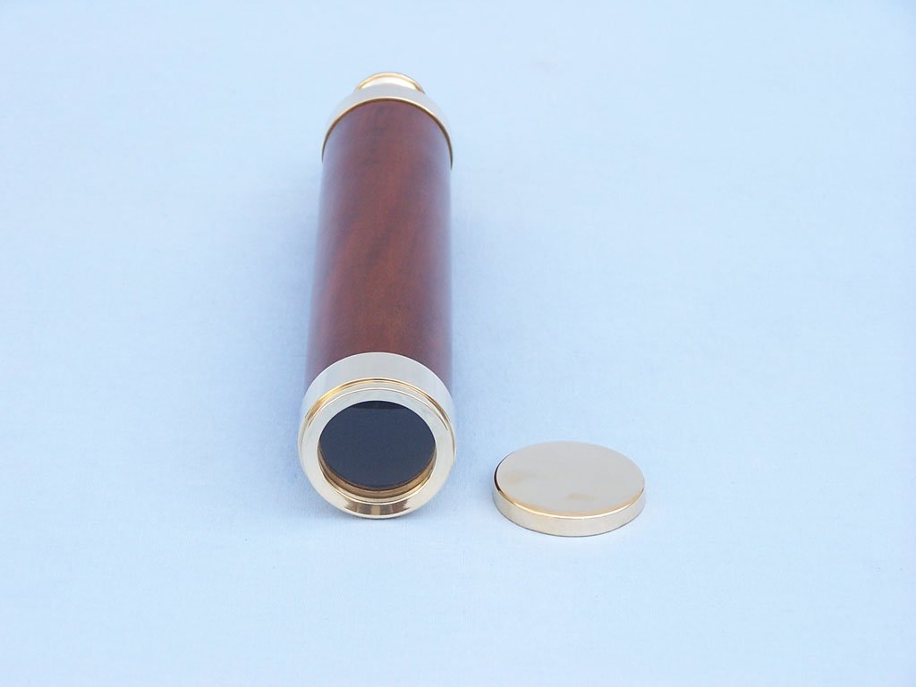 Admiral's Brass / Wood Spyglass 25'' - Wood Telescope - Hand Telescope - Hand He by Handcrafted Model Ships (Image #6)