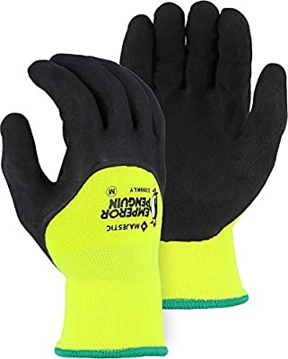 Majestic Emperor Penguin 3399KLY 3/4 Coated Latex Sandy Winter Lined Gloves M-XL