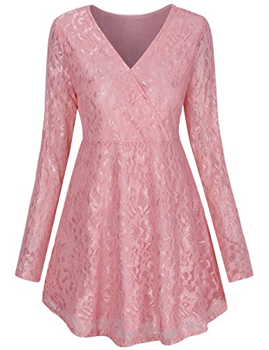 Faux Wrap Tops,LNIMIKIY Teen Girls Flattering Casual Style Swing Tunic Dress Prime Clothes 2018 Flattering Tee Casual Style Swing Tunic Dress,Pink L Kids Career Dress