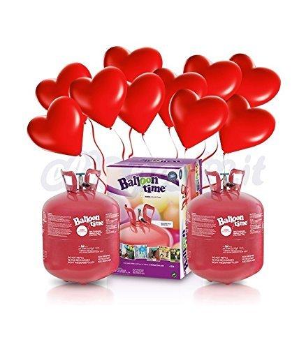 en stock Elioparty – Kit Helio X-Large X-Large X-Large + 60 globos rojos corazón – Diámetro 25 cm  ahorra hasta un 30-50% de descuento