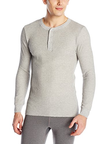 Casual Light Cherry (Fruit of the Loom Men's Classics Midweight Waffle Thermal Henley Top, Light Grey Heather, Large)