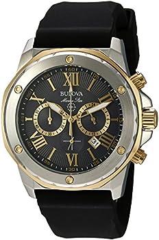 Bulova Men's Stainless Steel Analog-Quartz Watch with Silicone Strap