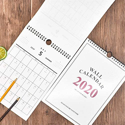 iBàste Home Planer Wandkalender, Familienkalender mit großen Räumen für die täglichen Termine und Aktivitäten Memo