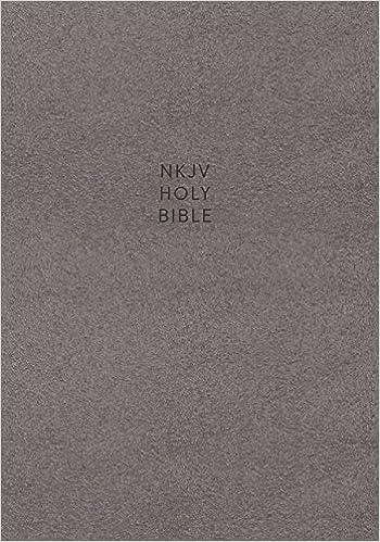 NKJV, Single-Column Reference Bible, Cloth Over Board, Gray, Comfort