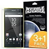 Xperia Z5 Compact Screen Protector - Ringke Advaced Invisible Defender [3-PACK + 1 FREE EXTRA BONUS SHEET]Crystal Clear HD Screen Protector [All Purpose Anti-Scratch] Lifetime Warranty for Sony Xperia Z5 Compact