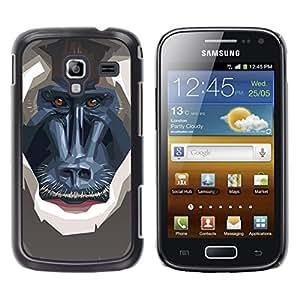 EJOY---Cubierta de la caja de protección la piel dura para el ** Samsung Galaxy Ace 2 ** --Polígono mono babuino