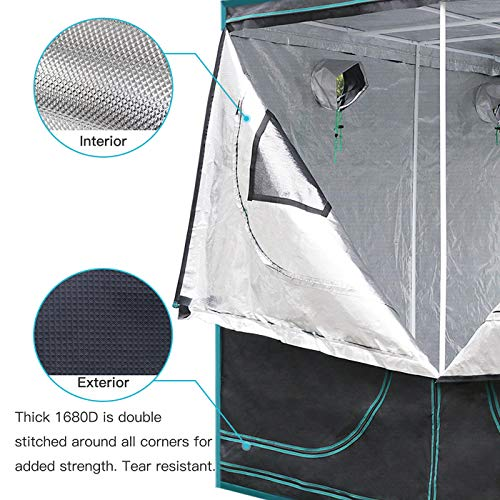 MarsHydro 8x4x7 Reflective Mylar Hydroponic Grow Tent for Indoor