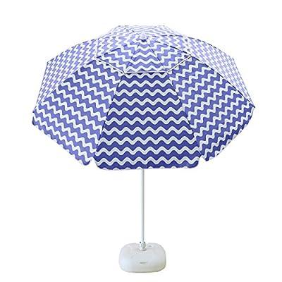 APARESSE 7 Foot Outdoor Sun Shade Beach Umbrella Blue and White Stripe Portable with Carry Bag -  - shades-parasols, patio-furniture, patio - 51eGEVTCZgL. SS400  -