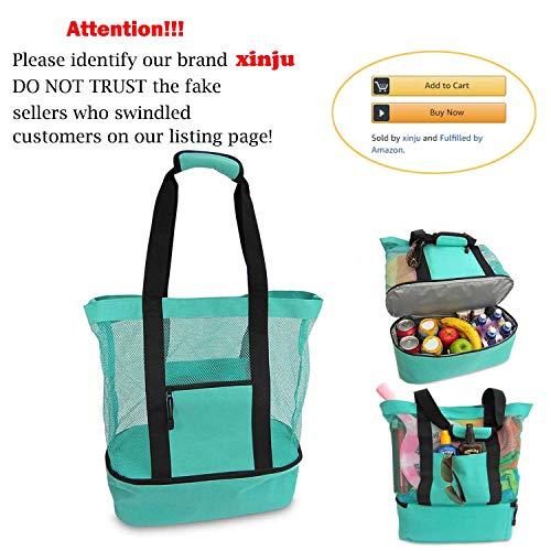 Multi-function picnic beach handbag camping cooler bag ice bag lunch bag with zipper