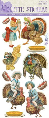 Violette Stickers Turkeys for Thanksgiving