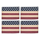 The Country House Collection Burlap Flag Placemat Set of 4 (13x19'')