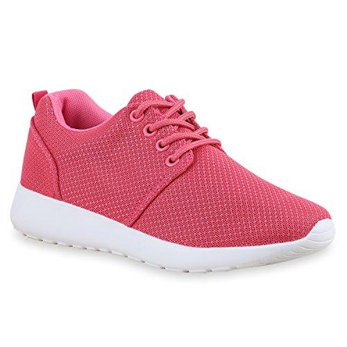 Damen Sportschuhe Blumen Neon Stoff Glitzer Metallic Laufschuhe Lack Animal Print Schuhe Sneaker Runners Trainers Profilsohle Flandell Pink Berkley
