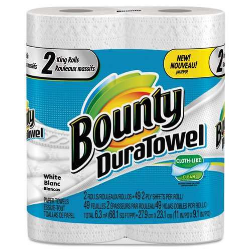 Bounty DuraTowel Paper Towels, 2-Ply, 11 x 11, 48/Roll - Includes 24 rolls. by Bounty