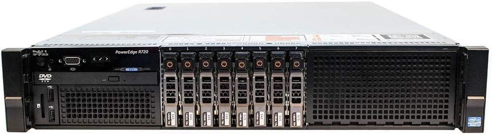 Dell PowerEdge R720 Server | 2X E5-2670 = 16 Cores | 128GB RAM | 8X 900GB SAS (Renewed)