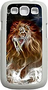 meilz aiaiFanged Lion- Case for the Samsung Galaxy S III-S3- Hard White Plastic Snap On Casemeilz aiai