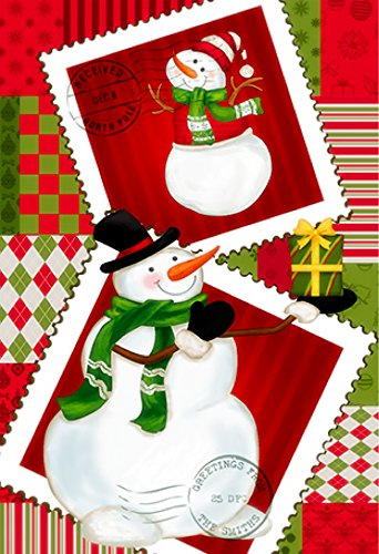 Premium Christmas Garden Flag Merry Christmas Decoration Holiday flag Decorations with Cute Snowman for inside or outside 12 x 18 Double sided Reads correctly on both sides sale (For Tinsel Sale)