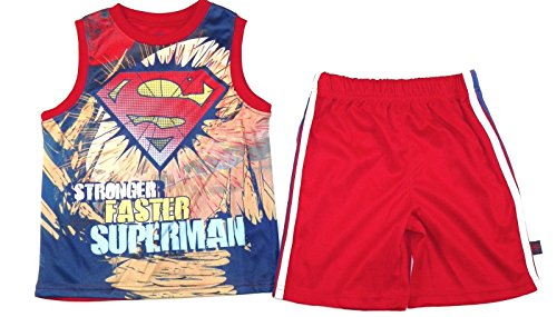 Superman+tank+tops Products : Superman Sportwear Boy's tank top and shorts