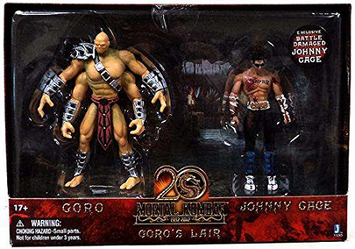 - Mortal Kombat 20th Anniversary 5 Inch Action Figure 2-Pack Goro's Lair w/ Johnny Cage Figure
