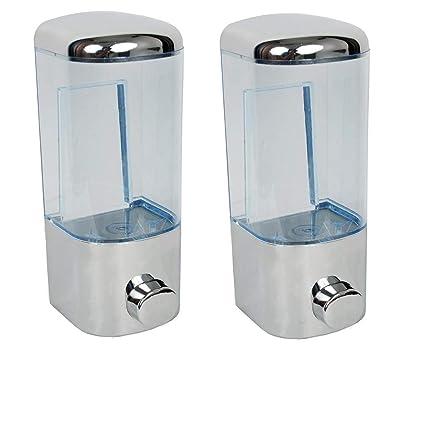 SBDTM Plastic Mirror Finish Soap Dispenser Shower Lotion Gel Conditioner Liquid Shampoo Pump -Combo Pack of 2
