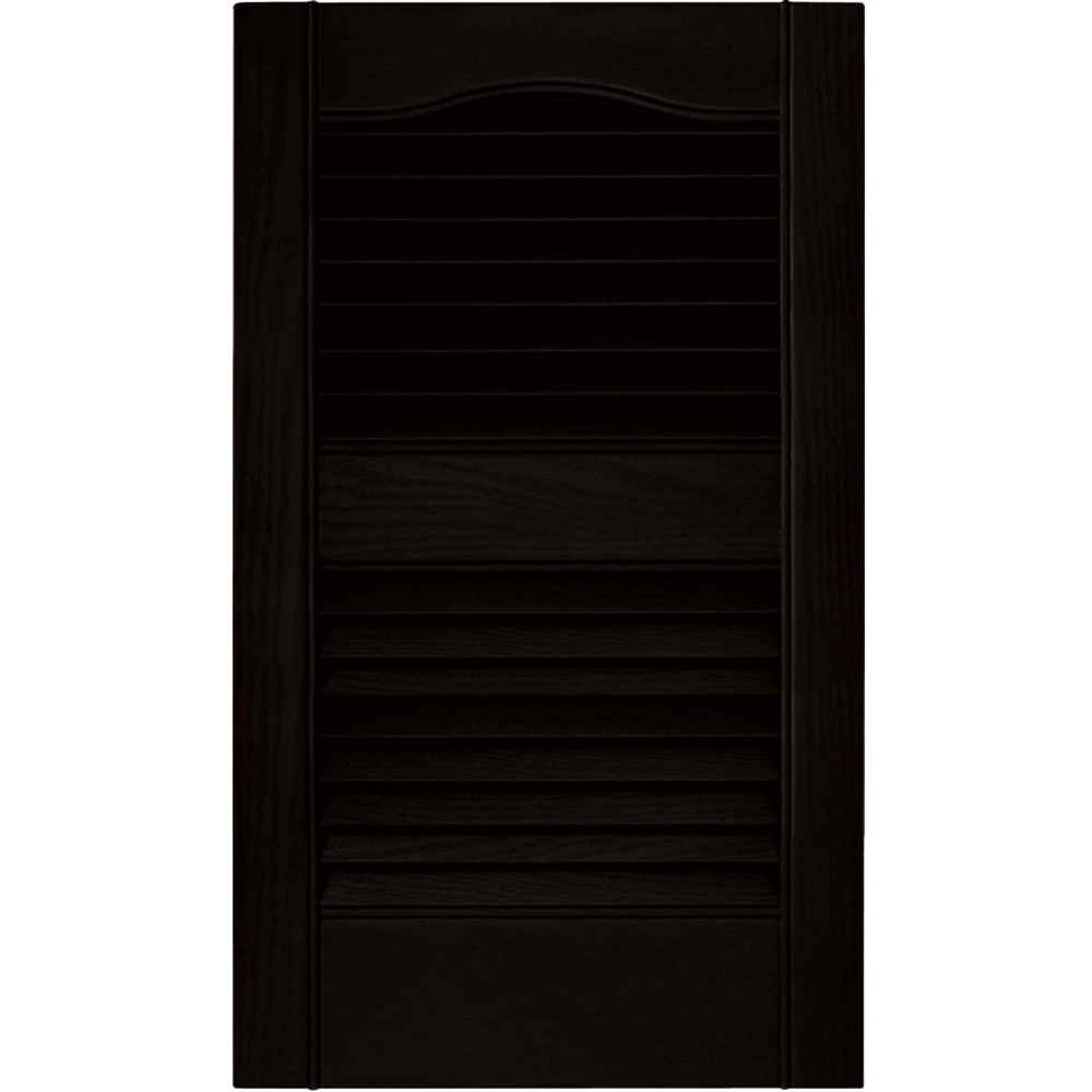 Set of 2 Louvered Shutters in Paintable Vinyl 12 in. W x 1 in. D x 64 in. H 5.97 lbs. Builders Edge 12 in