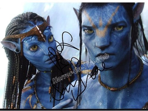 Click for larger image of Avatar Jake Sully Sam Worthington Neytiri Zoe Saldana 8x10 Auto Photo Reprint 3