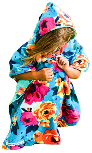 Mermaid Floral Car Seat Poncho for Girls Traveling Cover Reversible Warm Blanket Safe Use OVER Seat Belts