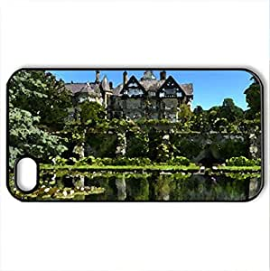 bodnant estate and gardens in conway wales - Case Cover for iPhone 4 and 4s (Watercolor style, Black)