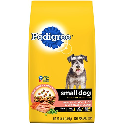 PEDIGREE Small Dog Adult Complete Nutrition Grilled Salmon, Rice and Vegetable Flavor Dog Food 3.5 Pounds