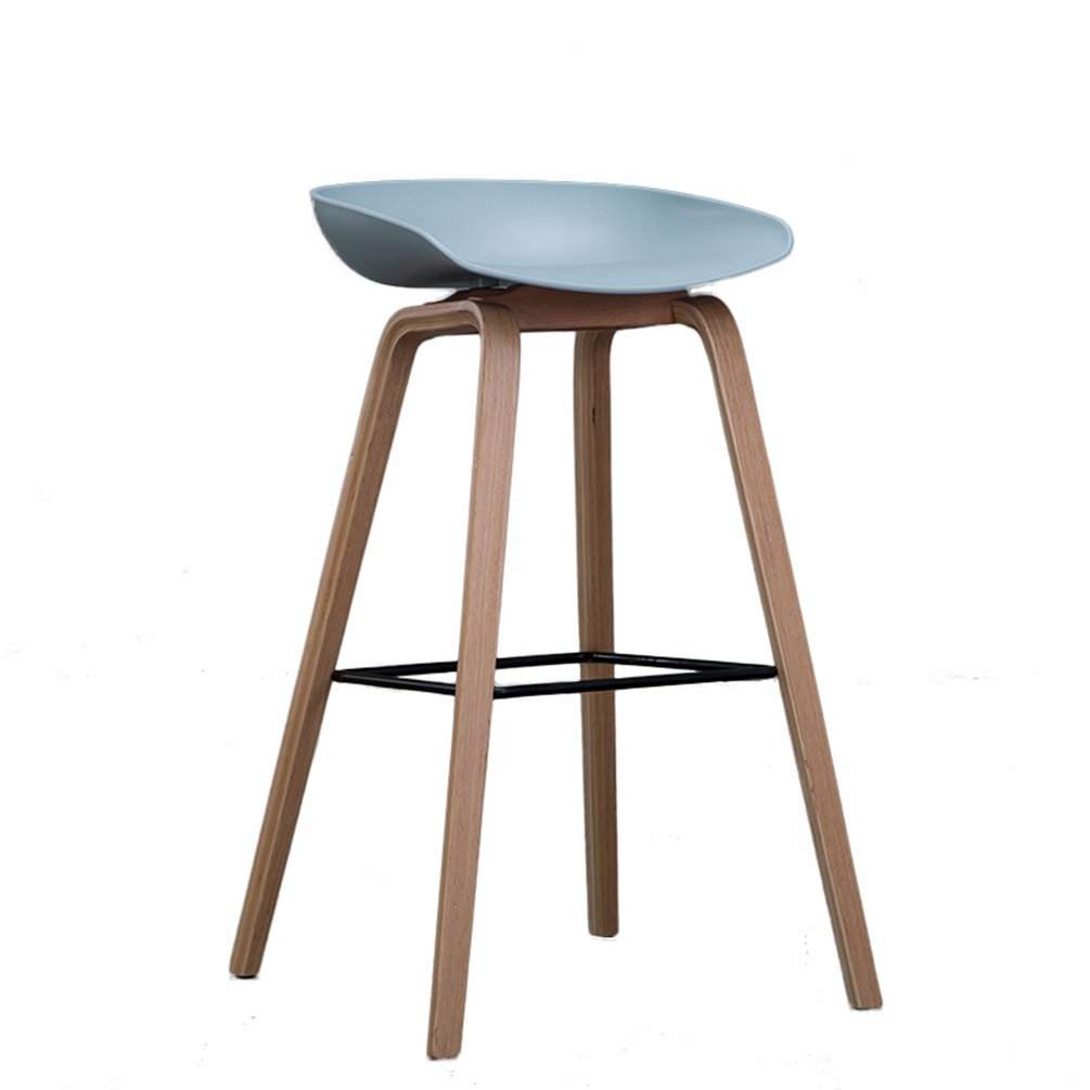 4  45x51x65cm Qing MEI Nordic Bar Stool Solid Wood Bar Stool High Stool Cafe Lounge Chair Kitchen Chair A+ (color   4 , Size   45x51x65cm)