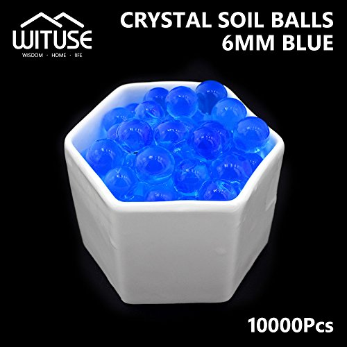 SOILLESS Plant Crystal Soil Grow Water Beads Blue Magic Jelly Ball X10000