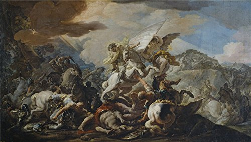 Oil Painting 'Giaquinto Corrado La Batalla De Clavijo 1755 56' 8 x 14 inch / 20 x 36 cm , on High Definition HD canvas prints is for Gifts And Home Theater, Powder Room And Study Room decor, (Rent Costumes Online)