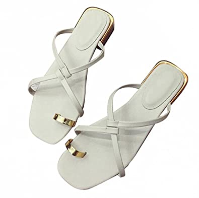 4a9bd9ebfd39 Women s Sandals Thong Sandal Flip Flops Gladiator Slip-On Sandal for Ladies  Woman Girls Stylish