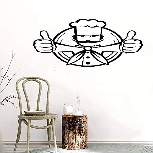 Bluegiants Vinyl Stickers Wall Home Decor Wall Decor Art Sticker Home Decals Chef Jacket Chief Toques Dish Food Cool -