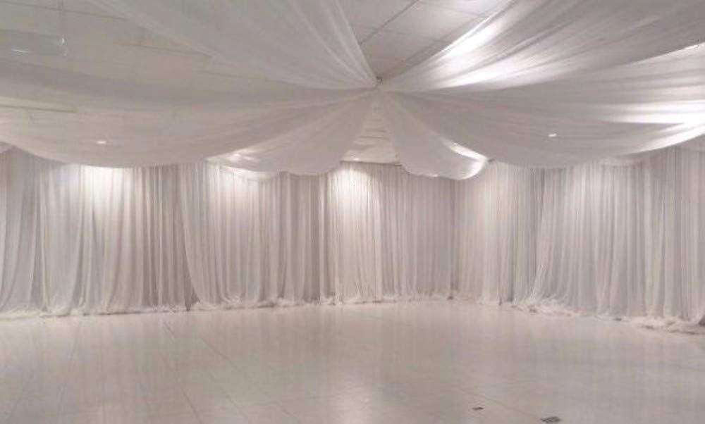 83 Wide X 5 Meter Long Blanc Pur Megachest Rideau en Voile Blanc Pur de 210 cm de Large pour Mariage