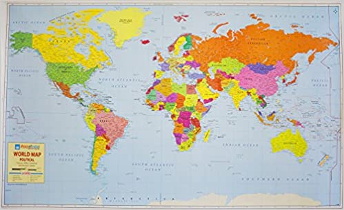 World Political Map on Art Paper: Amazon.in: Maps Of India: Books