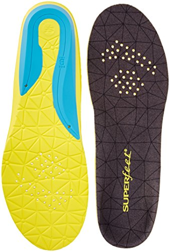 Superfeet Flexthin Athletic Comfort Shoe Insoles, Bolt, Medium/8.5-10 Women's/7.5-9 Men's M US (Superfeet Insoles Dress Fit)
