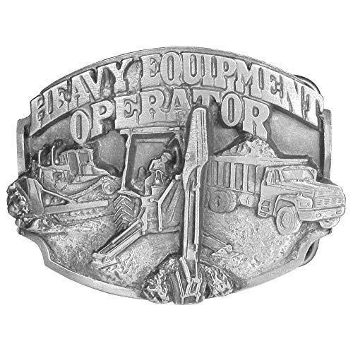 Heavy Equipment Operator Antiqued Belt Buckle (Fan Belt Buckle)