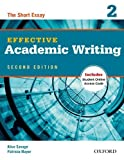 img - for Effective Academic Writing Second Edition: 2: Student Book by Alice Savage (5-Jul-2012) Paperback book / textbook / text book