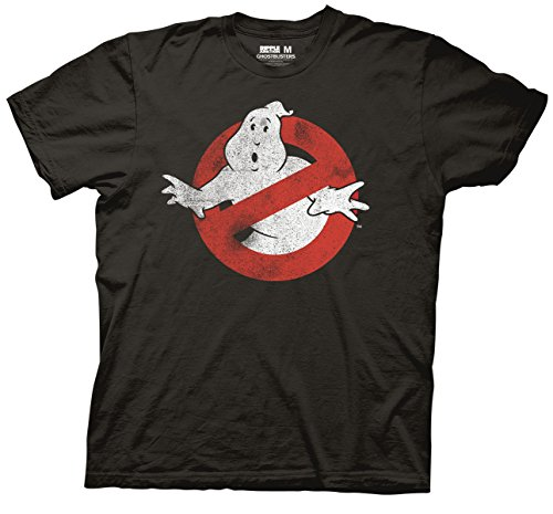 Ripple Junction Ghostbusters Logo Mens T-Shirt (Large, Vintage -