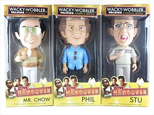 [With Talking Function Chau Phil Stu three bodies set [hangover (The Hangover)] FUNKO (Fanko) Wacky Wobbler (Wacky Wobbler) bubble - Phil Hangover The