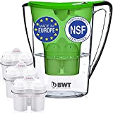 BWT Premium Water Filter Pitcher With 3 Bonus 60 Day Filters, Award Winning Austrian Quality, Technology For Superior Filtration & Taste (Blue)