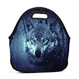 Best Wild Wind Dog Foods - Brniogn Fantasy Snow Wolf Lunch Bag for Adult Review