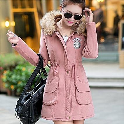 Aro Lora Womens Winter Warm Faux Fur Hooded Cotton-Padded Coat Parka Long Jacket