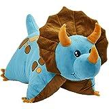 Pillow Pets Triceratops Blue Dinosaur, 18' Stuffed Animal Plush Toy