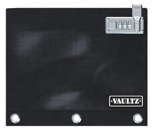 Vaultz Locking Binder Pouch, 8 x 10 Inches, Black (VZ00476)