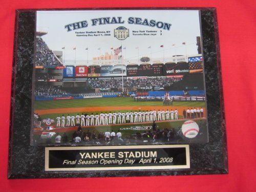 Yankee Stadium FINAL SEASON Opening Day Collector Plaque w/8x10 Photo!
