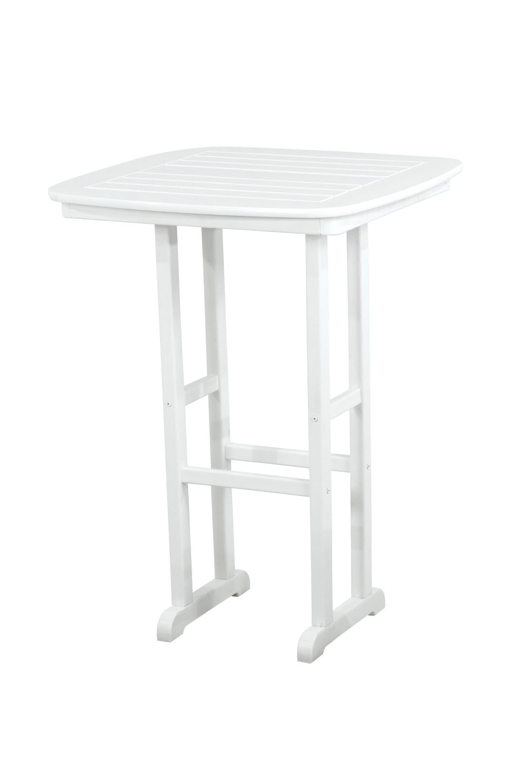 POLYWOOD NCBT31WH Nautical Bar Table, 31-Inch, White