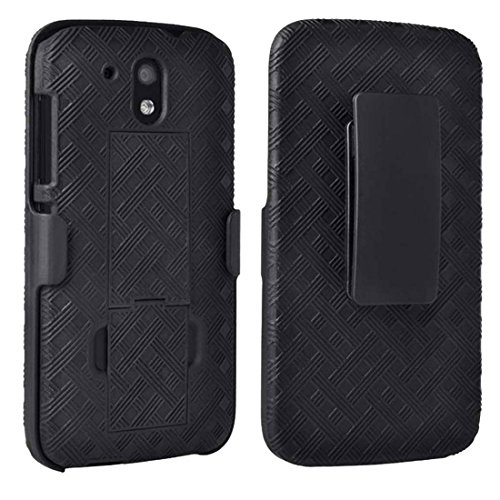 HTC Desire 526 Case, Rome Tech OEM Protective Slim Cell Phone Case with Kickstand Clip Holster for HTC Desire 526 - Black